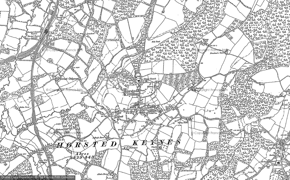 Old Map of Horsted Keynes, 1896 - 1898 in 1896