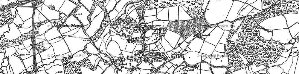 Old map of Wyatts in 1896