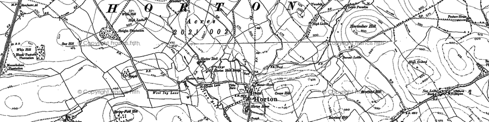 Old map of Yarlside in 1892