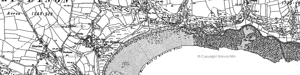 Old map of Horton in 1896