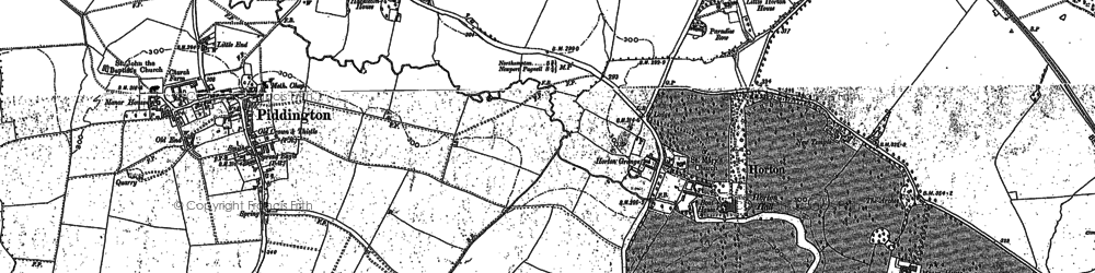 Old map of Wold, The in 1899