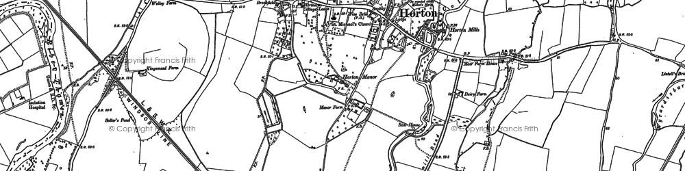 Old map of Wraysbury Reservoir in 1912