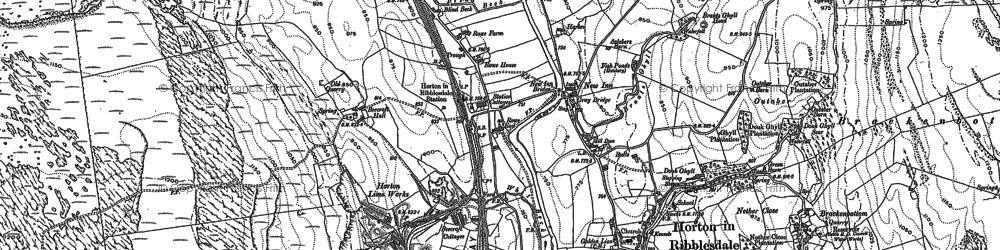 Old map of Horton in Ribblesdale in 1907