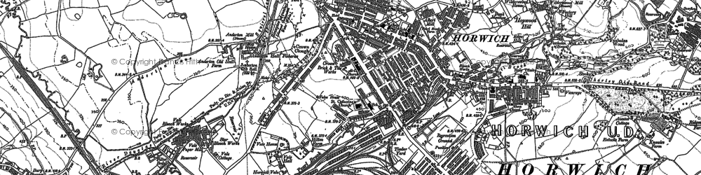 Old map of Wilderswood in 1892