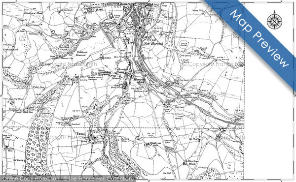 Old Map of Historic Map covering Toddbrook Resr in 1907
