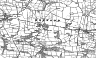 Old Map of Horwood, 1886 - 1887