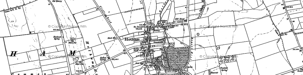 Old map of Hotham in 1889