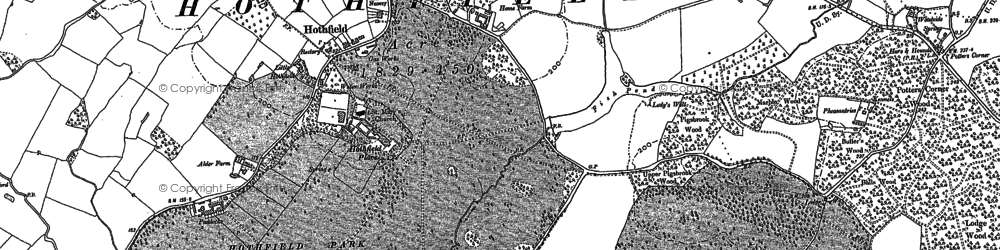 Old map of Worten in 1896