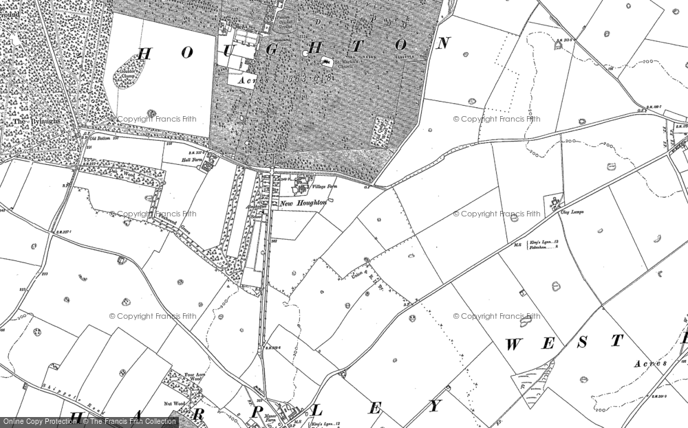 Old Map of Historic Map covering Tofts Dale in 1885