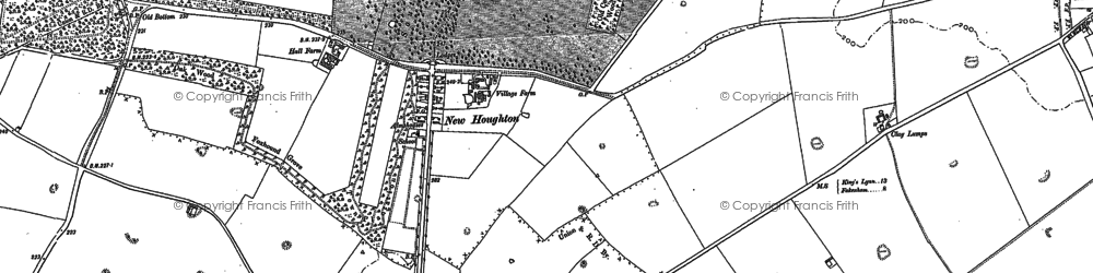 Old map of Houghton in 1885
