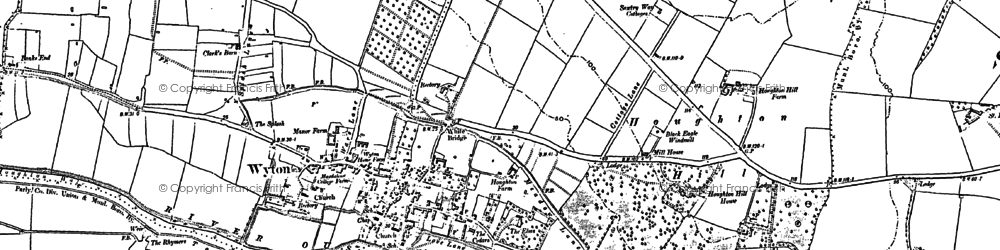 Old map of Houghton in 1887