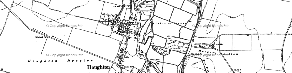 Old map of Houghton in 1894