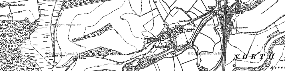 Old map of Whiteways Lodge in 1896