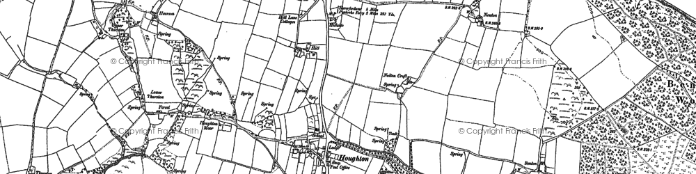 Old map of Thurston in 1906