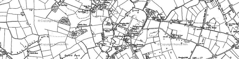 Old map of Orford in 1891
