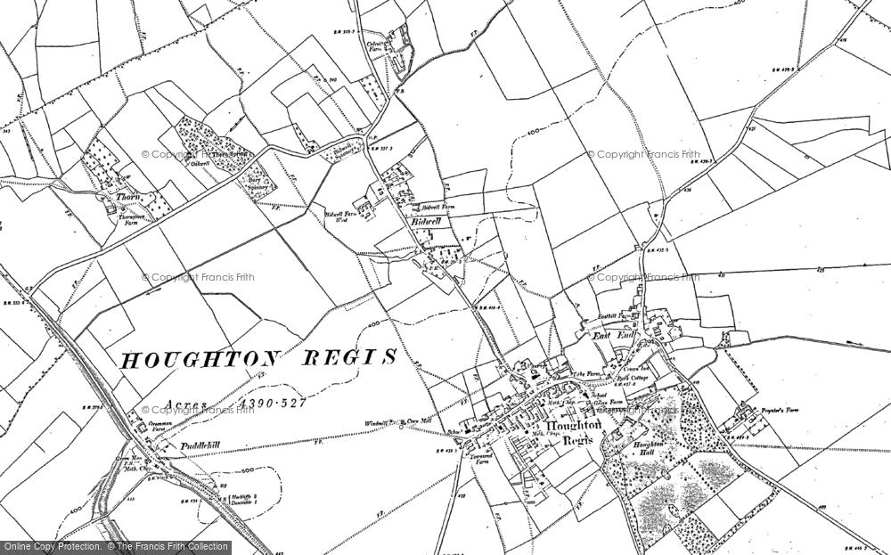 Old Map of Houghton Regis, 1881 - 1900 in 1881