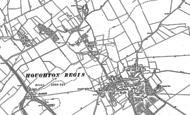 Map of Houghton Regis, 1881 - 1900