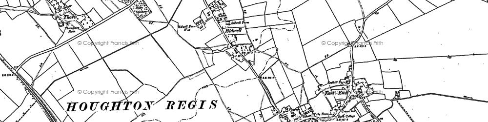 Old map of Houghton Regis in 1881