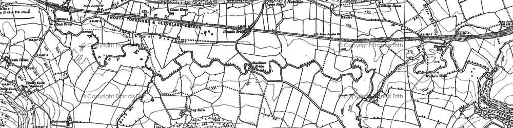 Old map of Wheat Bank in 1892