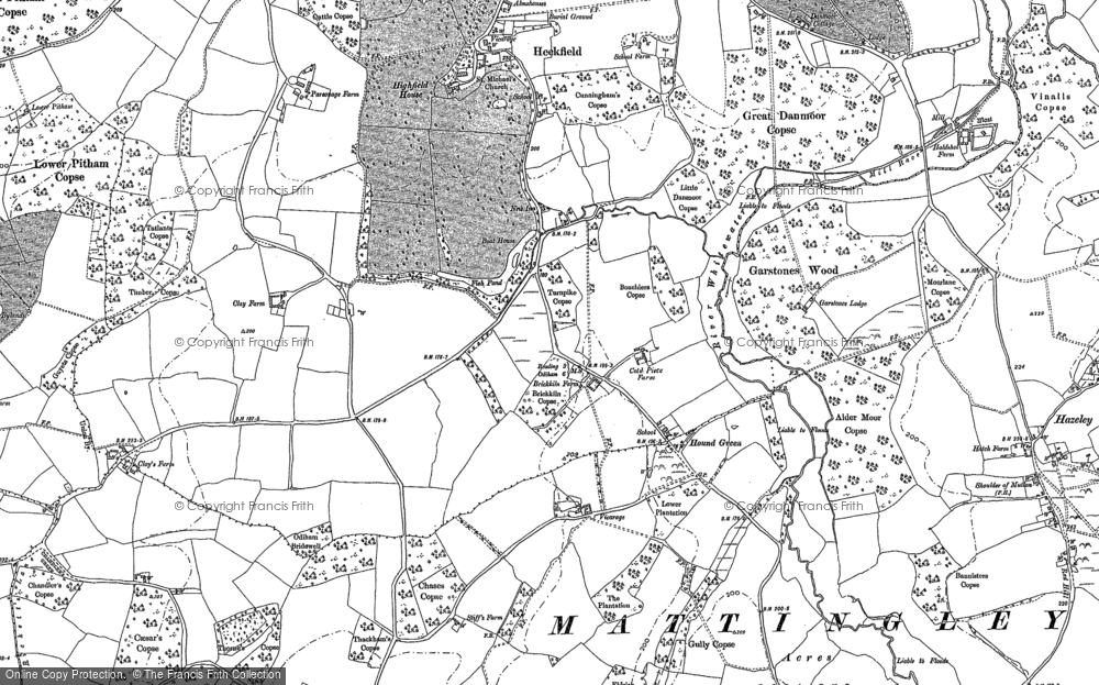 Old Map of Historic Map covering Alder Moor Copse in 1894