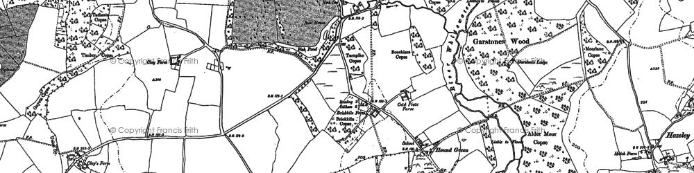 Old map of Alder Moor Copse in 1894