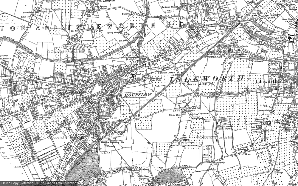 Old Map of Hounslow, 1894 - 1912 in 1894