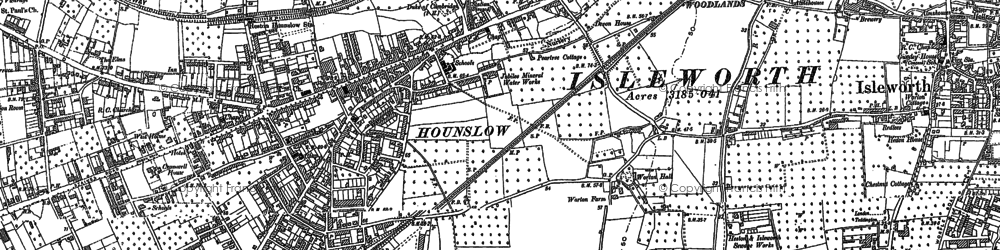 Old map of Hounslow in 1894