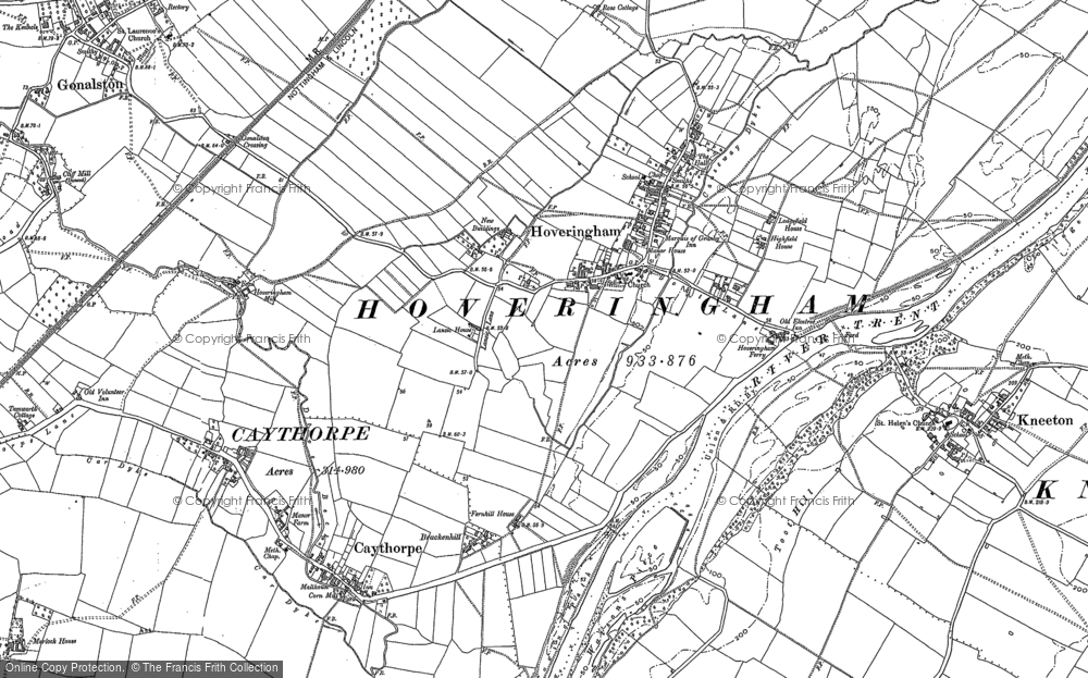 Old Map of Historic Map covering Lansic Ho in 1883