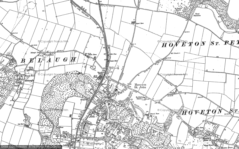 Old Map of Hoveton, 1880 - 1881 in 1880
