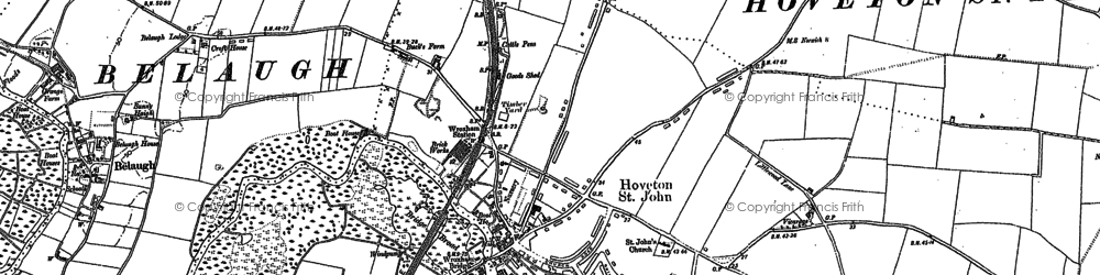 Old map of Hoveton in 1880