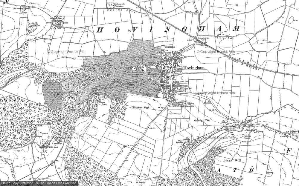 Old Map of Hovingham, 1889 in 1889