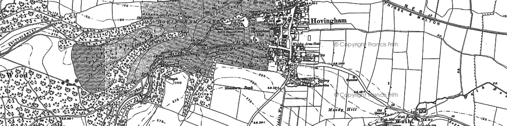 Old map of Airyholme in 1889