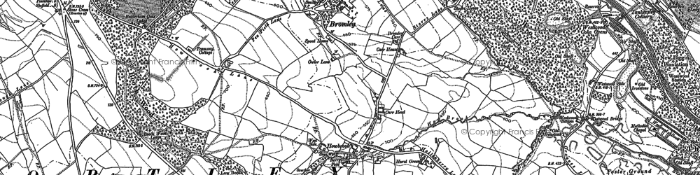 Old map of Howbrook in 1891