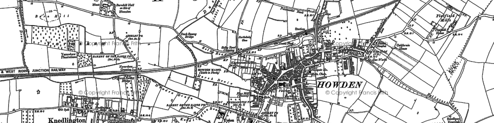 Old map of Howden in 1889