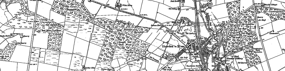 Old map of Howden-le-Wear in 1896