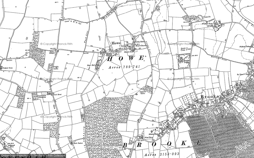 Old Map of Howe, 1880 - 1884 in 1880