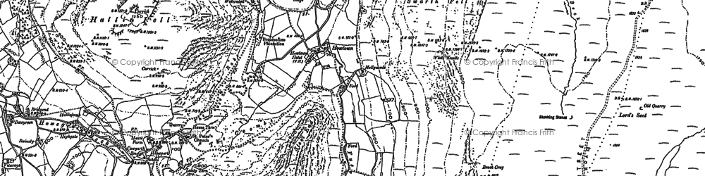 Old map of Arthur's Pike in 1897