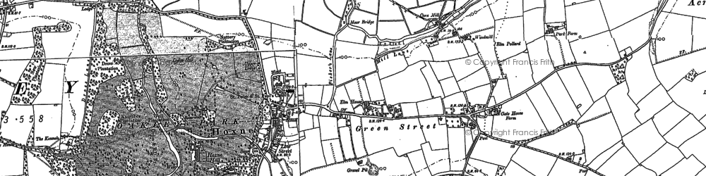 Old map of Admiral's Carr in 1903