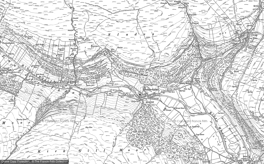 Old Map of Hubberholme, 1907 in 1907