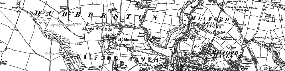 Old map of Havens Head in 1906