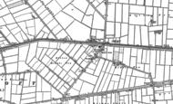 Old Map of Hubbert's Bridge, 1887