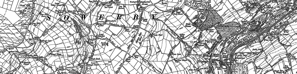 Old map of Toot Hill in 1892