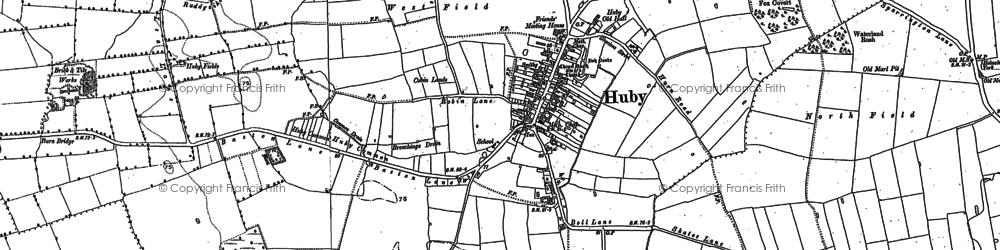 Old map of Barfs Hill in 1891