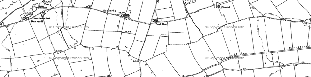 Old map of Willoughton Grange in 1885