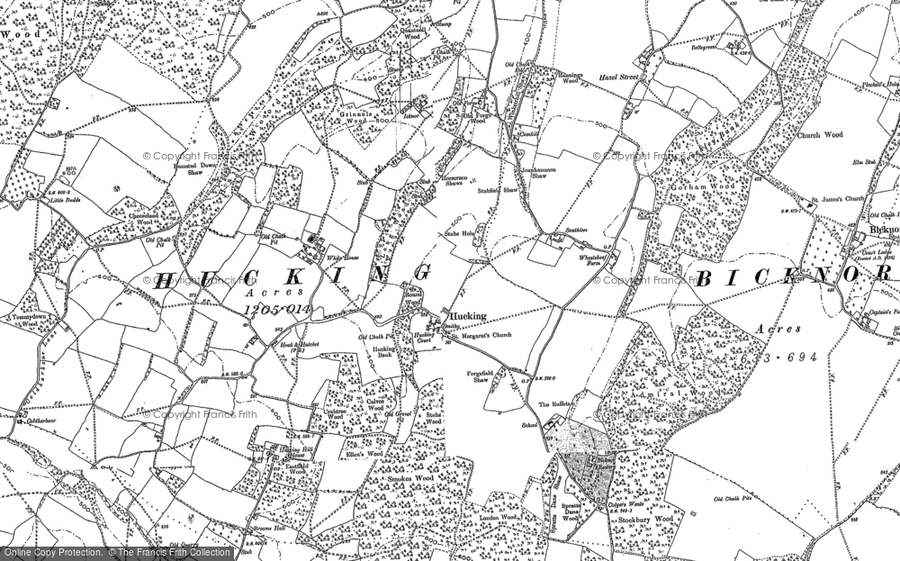 Old Map of Historic Map covering Admiral Ho in 1895