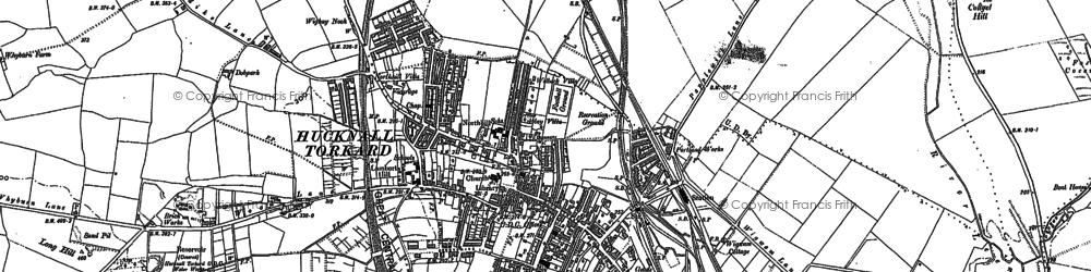 Old map of Hucknall in 1879