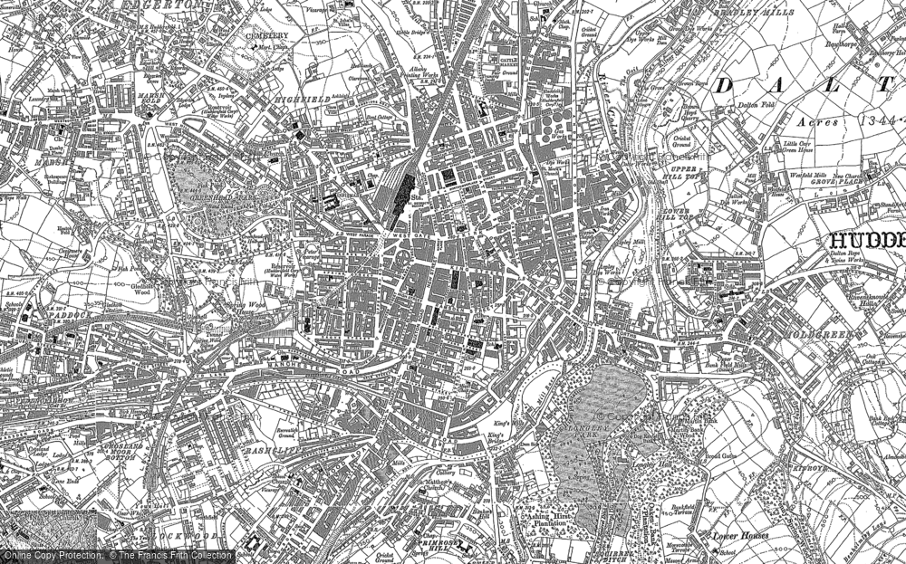 Old Maps of Huddersfield Francis Frith