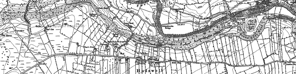 Old map of Whitcliffe Wood in 1891