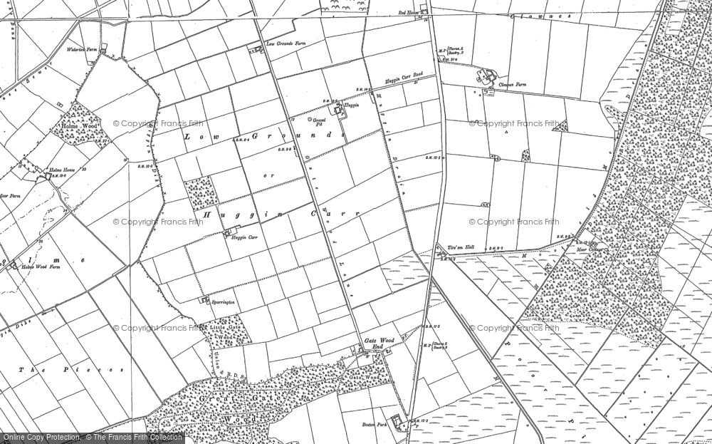Old Map of Historic Map covering Lindholme Hall in 1904