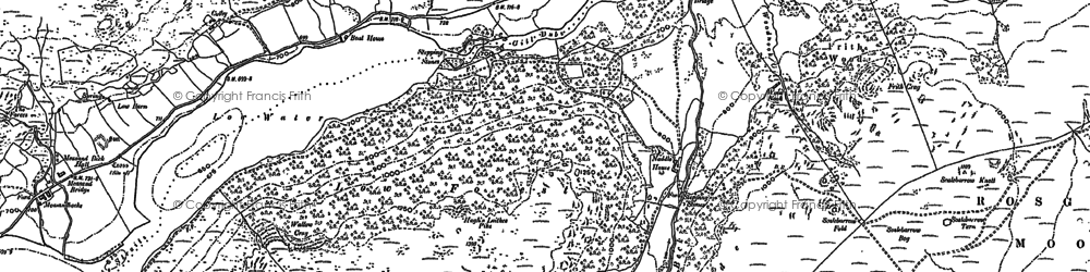 Old map of Langhowe Pike in 1897